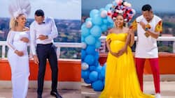 7 Delightful Photos of Size 8 Showing Off Cute Baby Bump