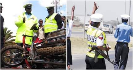 Bomet police officer nursing injuries after bodaboda rider runs her over