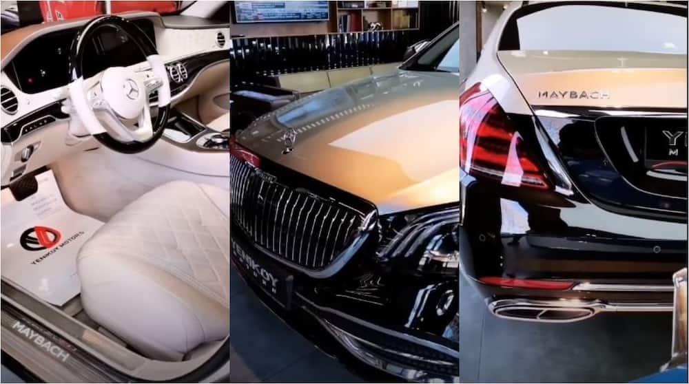 Nigerian football star flashes gold-plated Mercedes-Maybach S 650 Sedan worth N81m