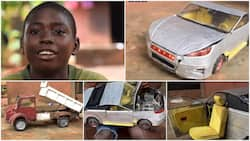 Young Boy Builds Toy Lamborghini 2021 Car with Mobile Seats Using Waste Materials