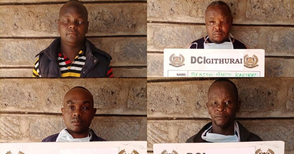 Majambazi watano wa wizi wa magari wanyakwa na makachero wa DCI Kiambu