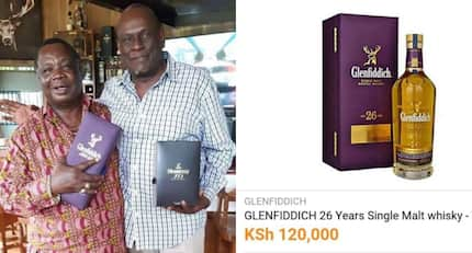 COTU boss Francis Atwoli shows off KSh 126k whiskey in meeting with Uhuru right hand man