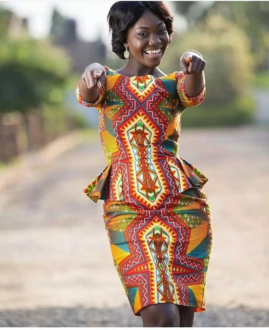 modern african print dresses, african print dresses for graduation, african print a line dresses
