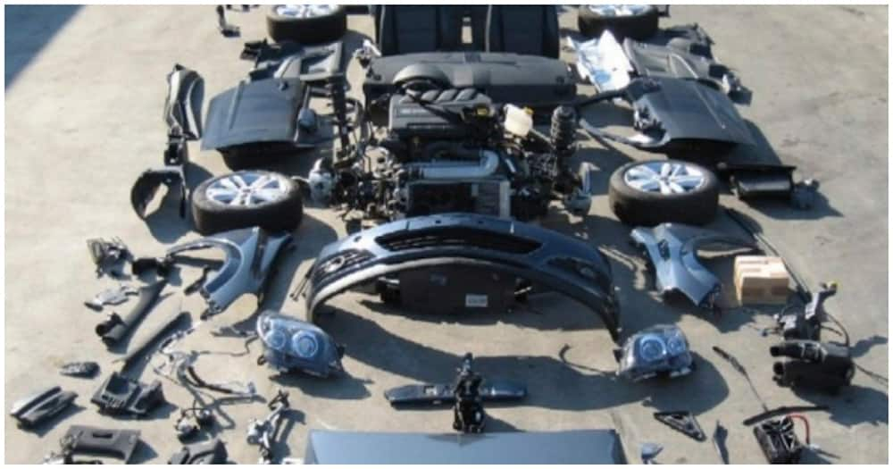 The four had stolen over 50 vehicles and dismantled them where engines and body parts are sold to scrapers. Photo: MotorsKE.