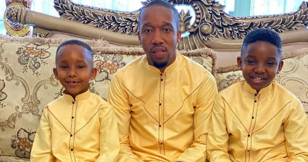 Rashid Abdalla, adorable sons make Eid celebrations special with identical kanzus