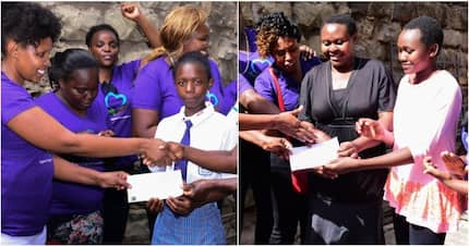 Nairobi businesswoman and philanthropist Agnes Kagure rescues two KCPE finalist who'd lacked school fees