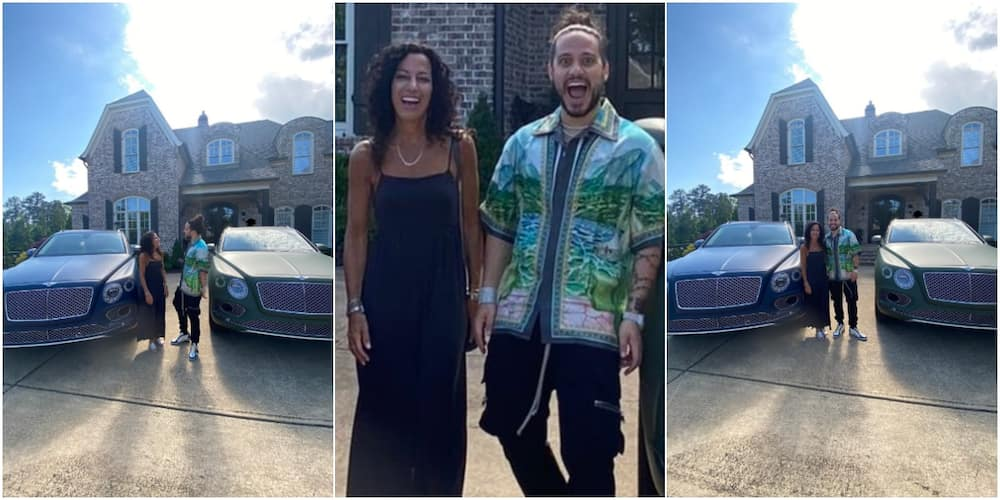 Massive Reactions as Man Buys Same Model of Luxury Car for Himself & His Mum, Says He Won't Stop Spoiling Her
