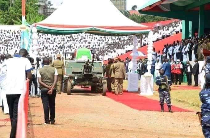 Picha za hafla ya mazishi ya aliyekuwa Rais Pierre Nkurunziza