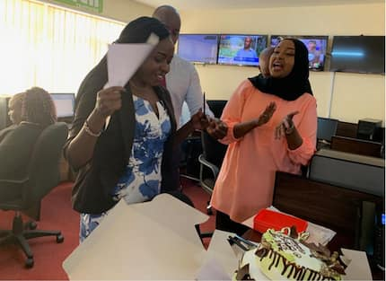 Jacque Maribe's employers throw her surprise party at work hours after her court hearing
