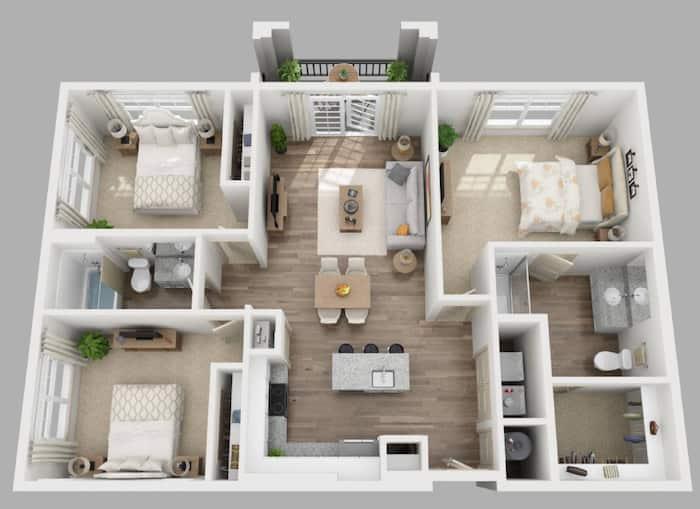 Simple Three Bedroom House Plans To, Modern 3 Bedroom House Plans In Kenya