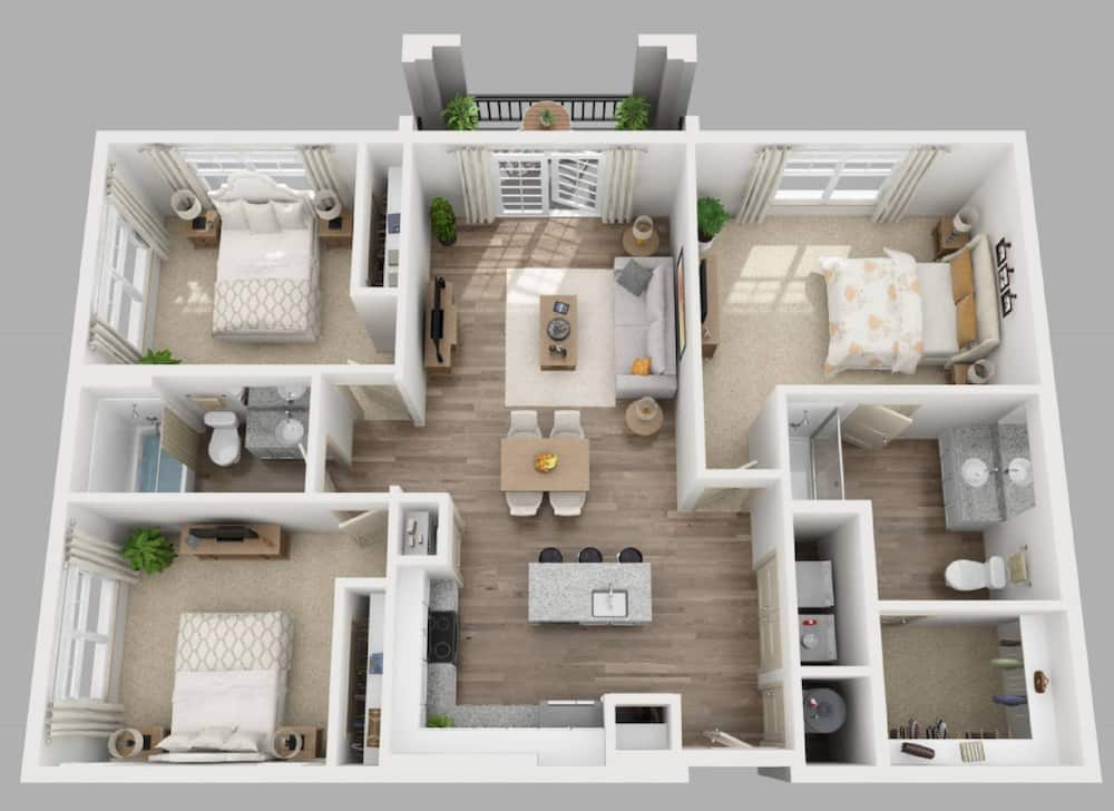 Simple three bedroom house plans
