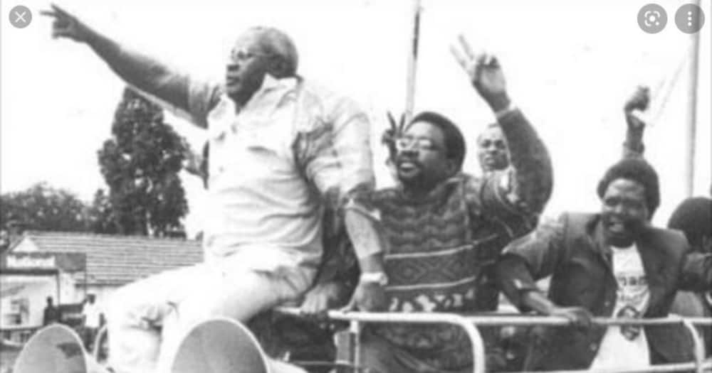 Some of the opposition politicians who took part in the Saba Saba Liberation struggle. Photo: Rodgers Kipembe.