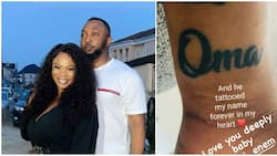 Nollywood's Oma Nnadi Happy as Husband Gets a Tattoo of Her Name on His Wrist, Shares Photo, Fans React