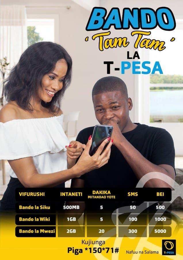 TTCL Tanzania: bundles, Pesa, menu