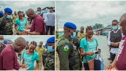Man Surprises Lady with KSh 133,000 for Her Calmness after His Car Splashed Water on Her