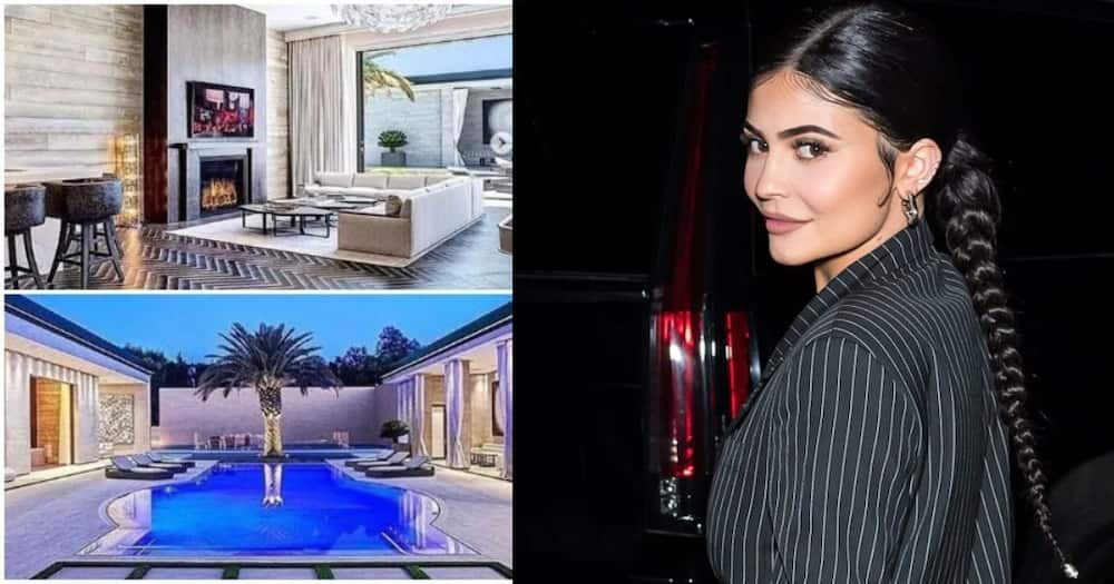 Kylie Jenner gave fans a snippet of her chic contemporary home in Los Angeles.