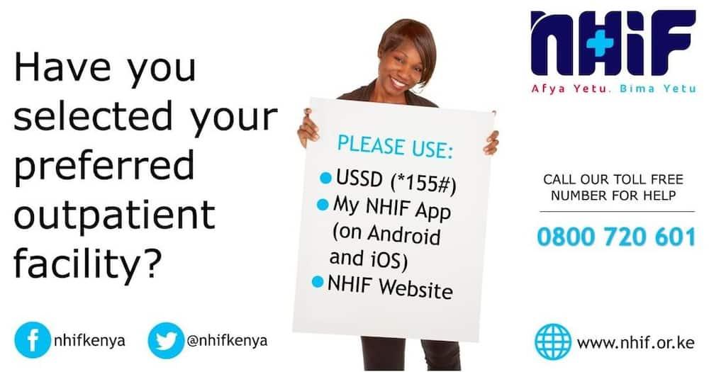 NHIF choosing hospital online
