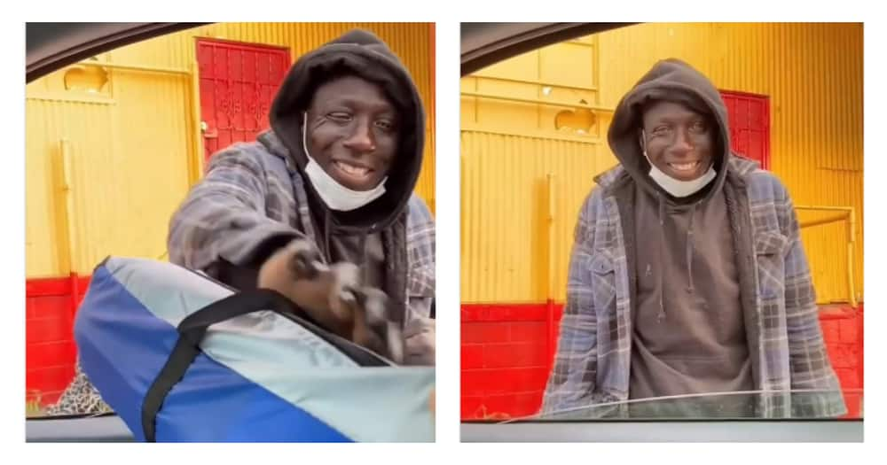 Homeless man's reaction to receiving help leaves Internet swooning