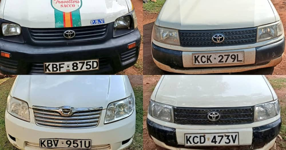 DCI detectives recover 5 stolen vehicles in Trans Nzoia, 25-year-old suspect arrested