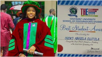 Abisola Osoko-Fabunmi: Stunner Celebrates Bagging PhD at Age 27, Emerges Best Student