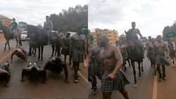 Show Master: Eric Omondi Arrives at Event on Horseback, Surrounded by Heavily Built Men