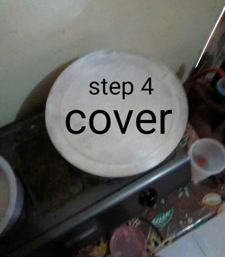 X easy steps of cooking cake using a gas cooker