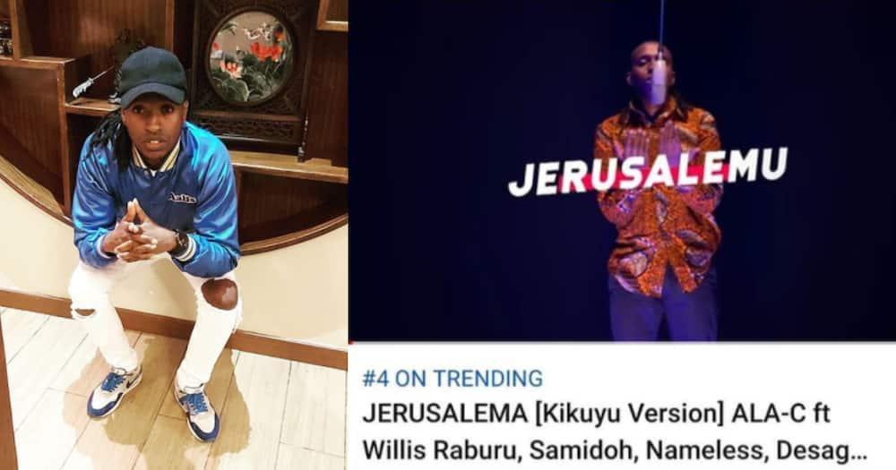 Kenyan musician Ala C debuts Kikuyu version of viral Jerusalema song