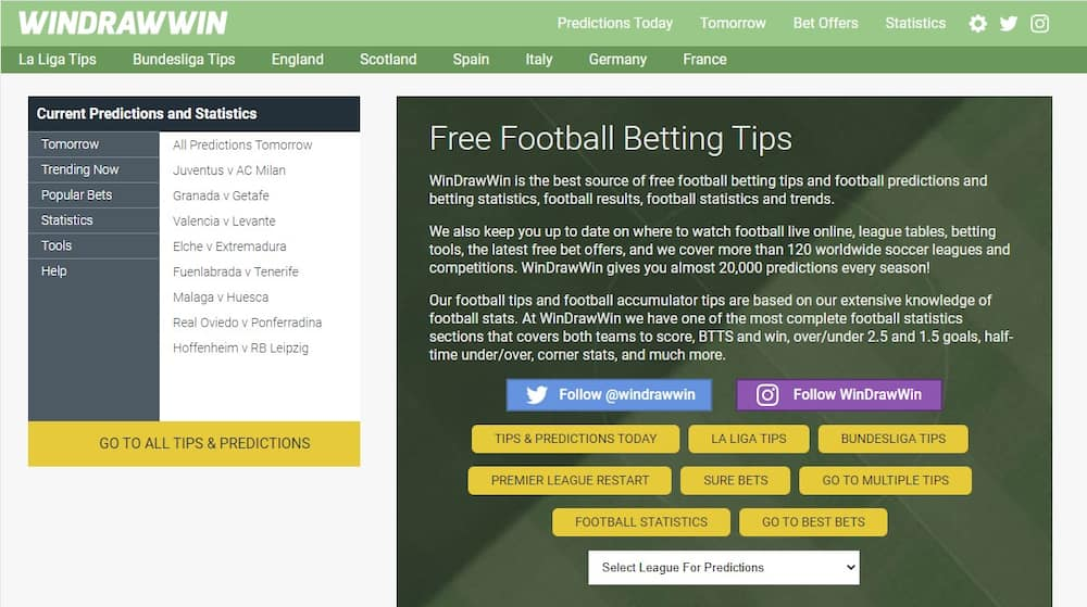 WinDrawWin: How to make correct football result predictions