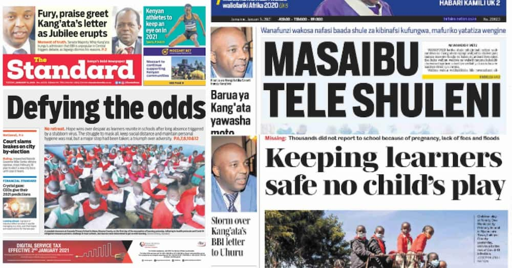 Newspaper review: Kang'ata's BBI letter adds fuel to already burning Jubilee Party
