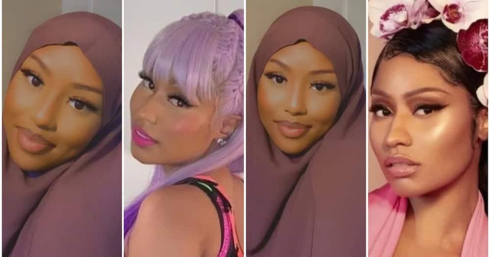 Une Nigériane en hijab qui demande si elle ressemble à Nicki Minaj reçoit des réactions mitigées
