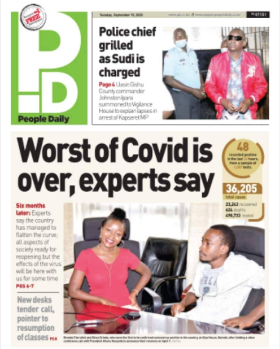 Kenyan newspapers review for September 15: Education experts propose October 2020 for reopening of schools