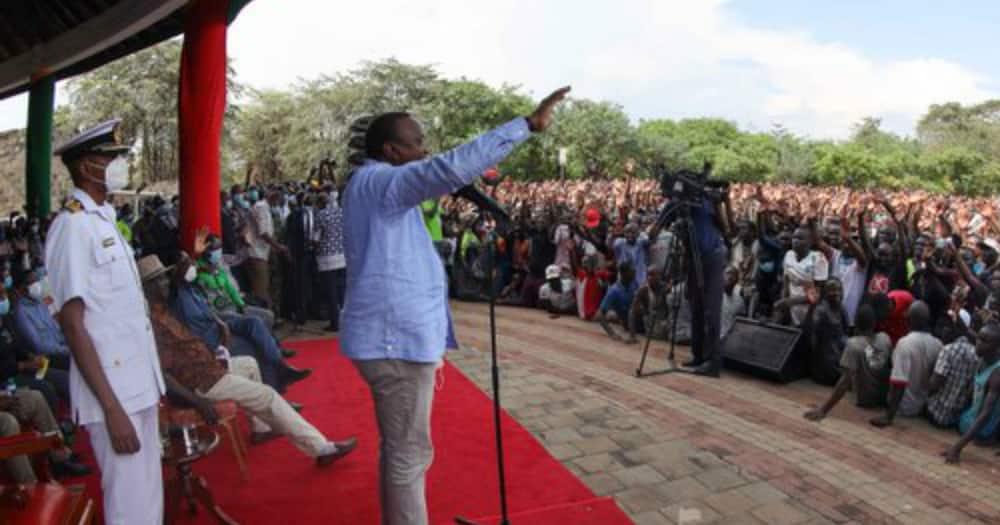 CS George Magoha unmoved as Uhuru joins Jerusalema dance challenge in Kisumu