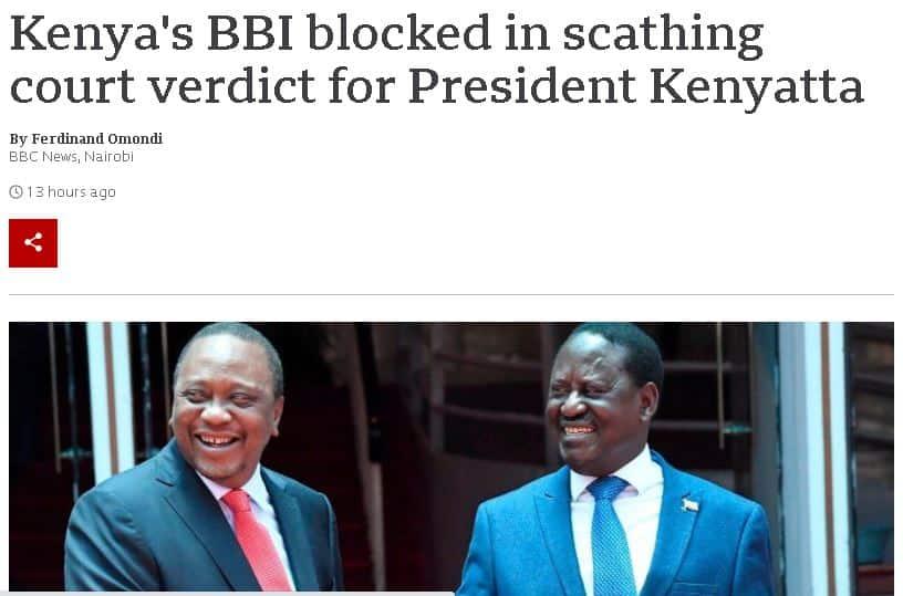 How International Media Covered Kenyan High Court's Bbi Judgment
