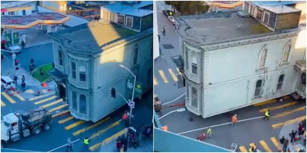 Residents in awe as video shows moment house is lifted and moved to new location
