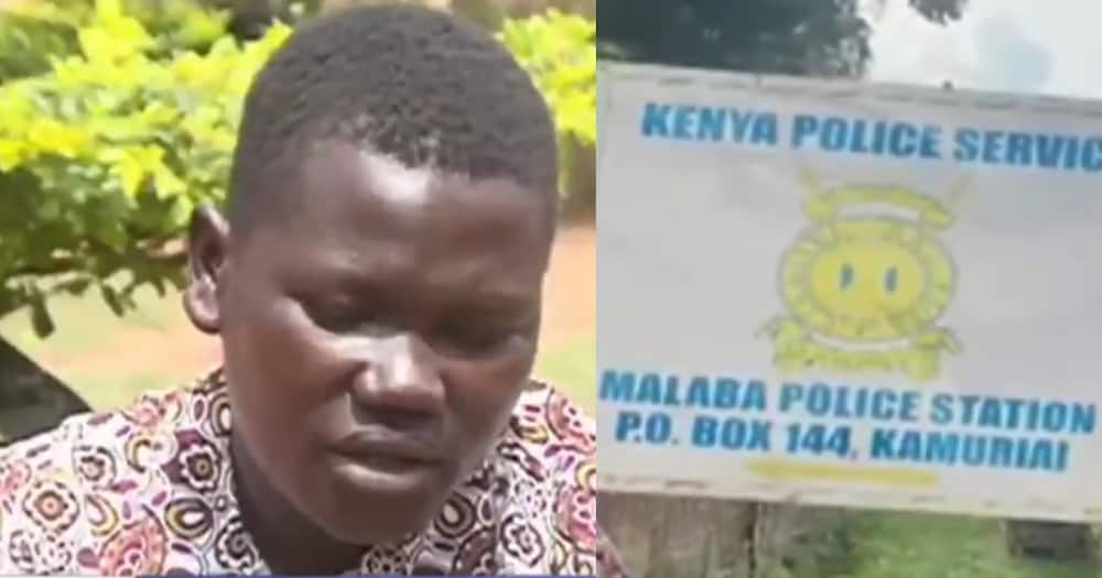 Her baby was pronounced dead on arrival at the hospital. Photo: Screenshot of video by KTN News.