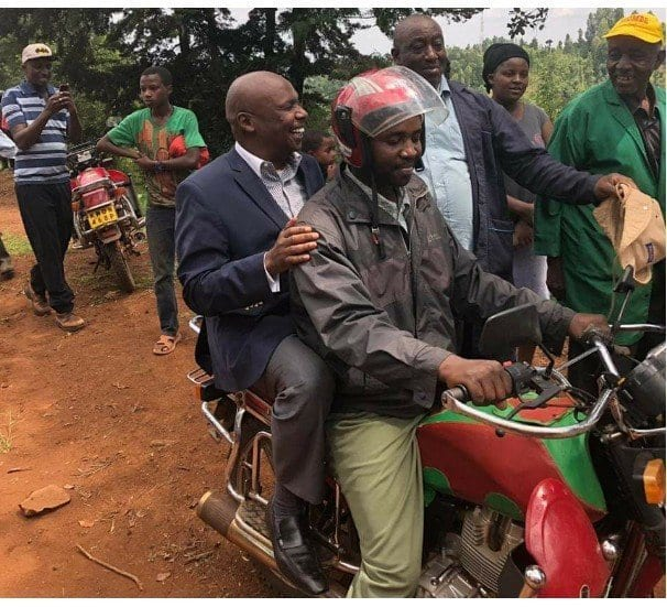 Mixed reactions as Gideon Moi rides to funeral on motorbike without safety gears