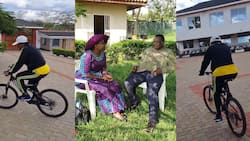 Atwoli's Wife Mary Kilobi Showcases Their Expansive Kajiado Home While Riding Bicycle