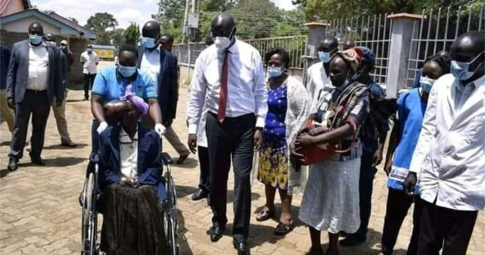 Bungoma Governor Wycliffe Wangamati Offers Medical Aid to Lady with Strange Condition