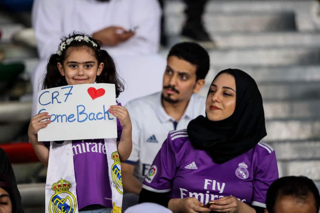 Young Real Madrid fan holds banner asking Cristiano Ronaldo to come back and it's simply heartwarming