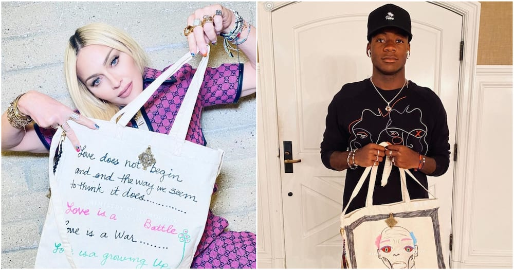 US Pop Star Madonna Handmakes Tote Bags Covered in Artful Quotes for Nairobi Children