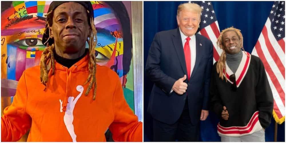 Lil Wayne and ex-president Donald Trump
