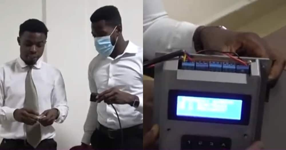 KNUST students create device that calls property owners when there's fire outbreak