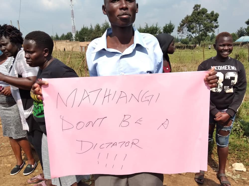 Uasin Gishu residents demonstrate, demand release of suspects behind false Matiang'i hospitalisation reports