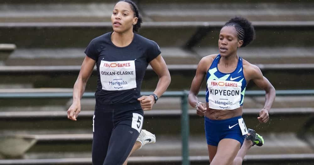 Faith Kipyegon during a past race. Photo: Faith Kipyegon.