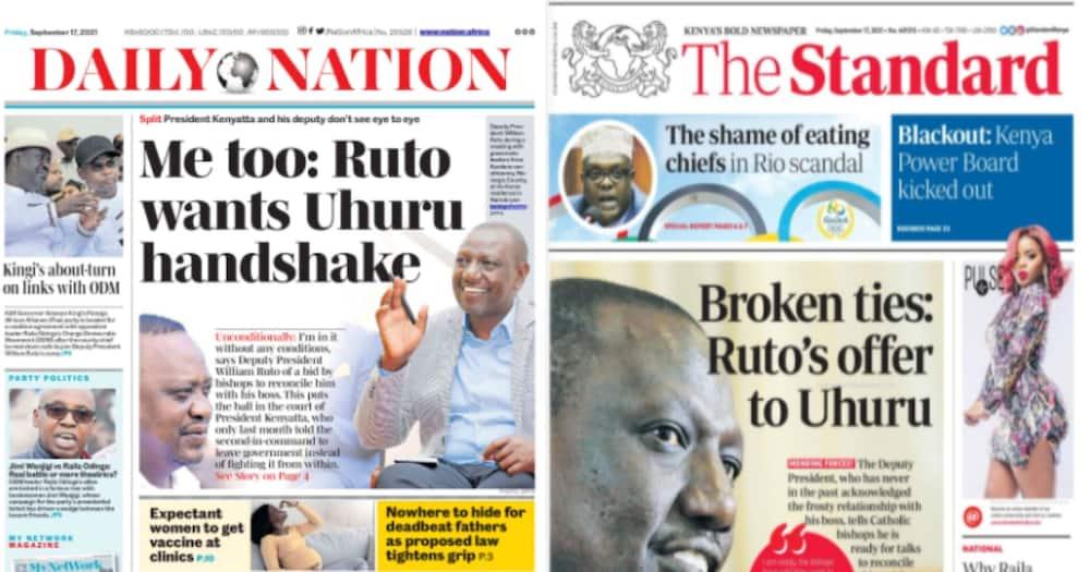 Deputy President William Ruto has welcomed the initiative by Catholic clerics to reunite him with Uhuru.