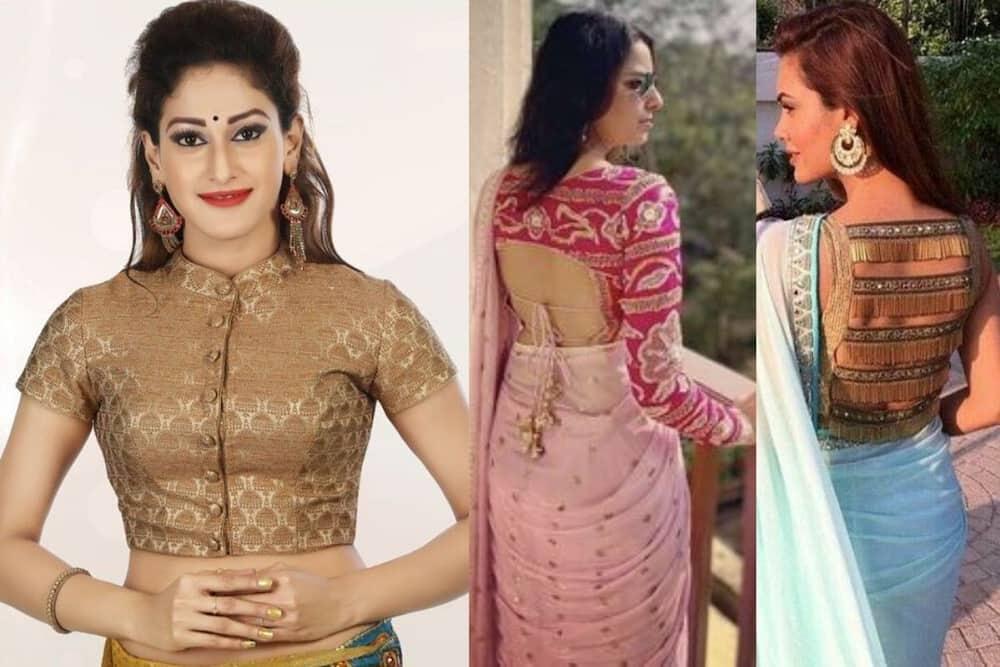 latest silk saree blouse designs