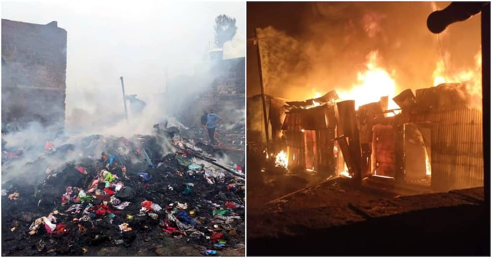 It is not yet clear what caused the late-night fire at the Gikomba market.
