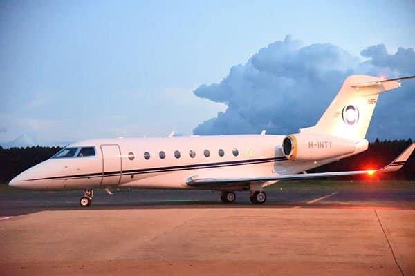 Champion Eliud Kipchoge flies back home aboard Kenya Airways