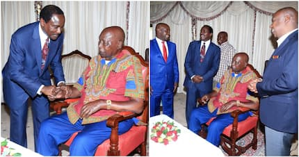 Kalonzo and son Kennedy meet retired president Daniel Moi in Kabarak