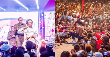 Gospel singer Bahati shares stage with secular star Diamond Platnumz in lust-filled concert